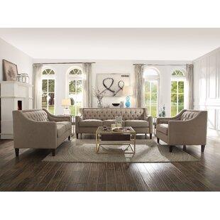 Denisas 3 Piece Living Room Set by Red Barrel Studio