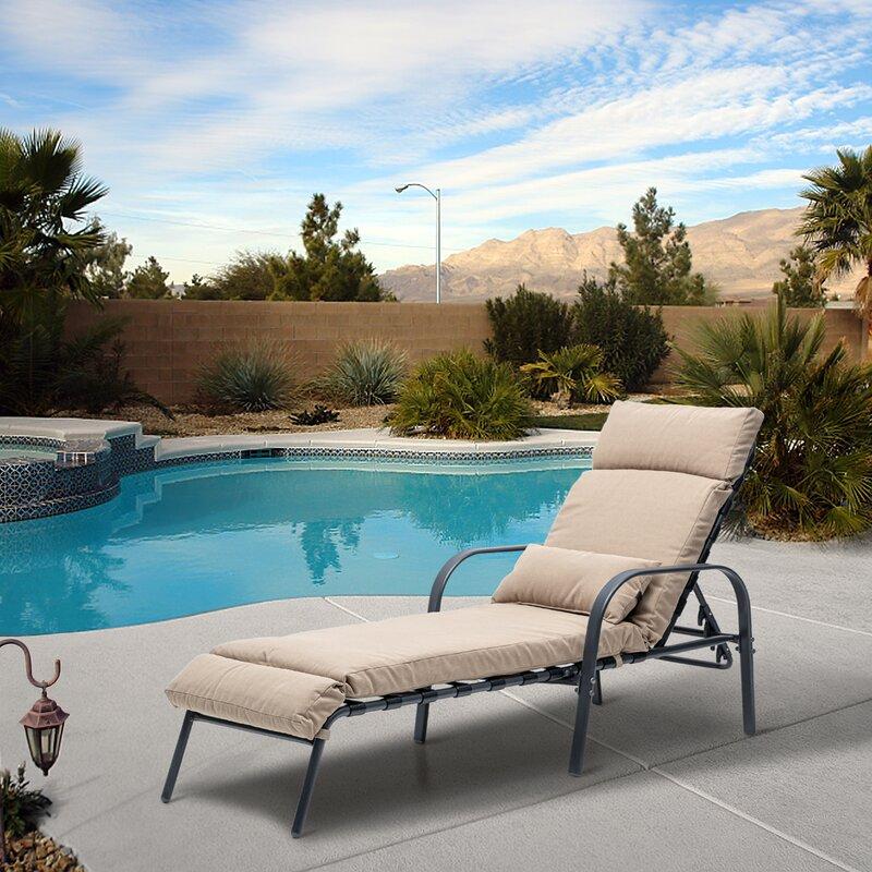 Ebern Designs Allionna Reclining Chaise Lounge With Cushion Wayfair