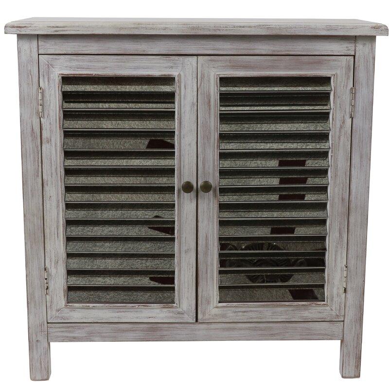 Brumbelow 2 Door Mirrored Accent Cabinet by Gracie Oaks