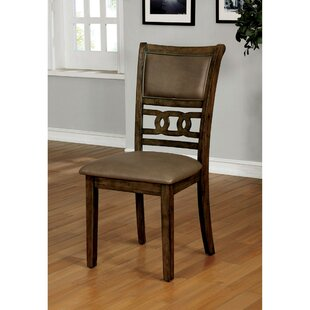 Raleigh Transitional Upholstered Dining Chair (Set of 2) Loon Peak