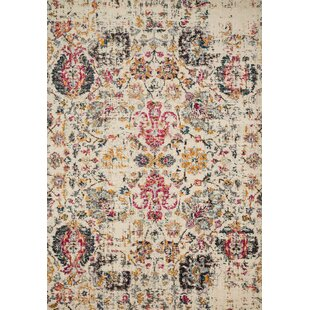 Price comparison Lorenz Ivory Area Rug By Bungalow Rose