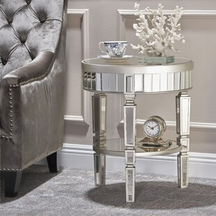 Low priced Lemmon Mirrored End Table By House of Hampton