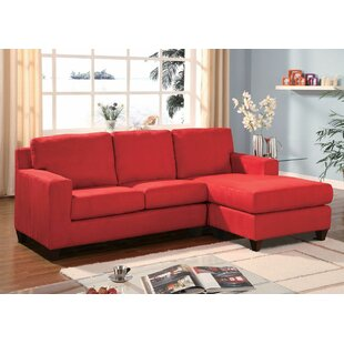 Weisinger Microfiber Reversible Chaise Sectional by Winston Porter