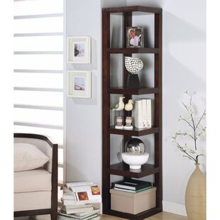 Haria Wooden Corner Unit Bookcase Red Barrel Studio