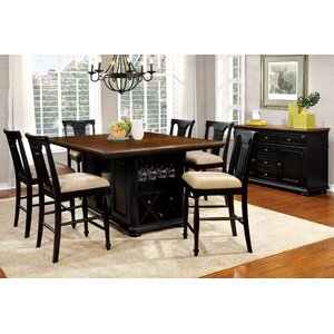 cherry dining room set. Amandes 7 Piece Dining Set Cherry Kitchen  Room Sets You ll Love Wayfair