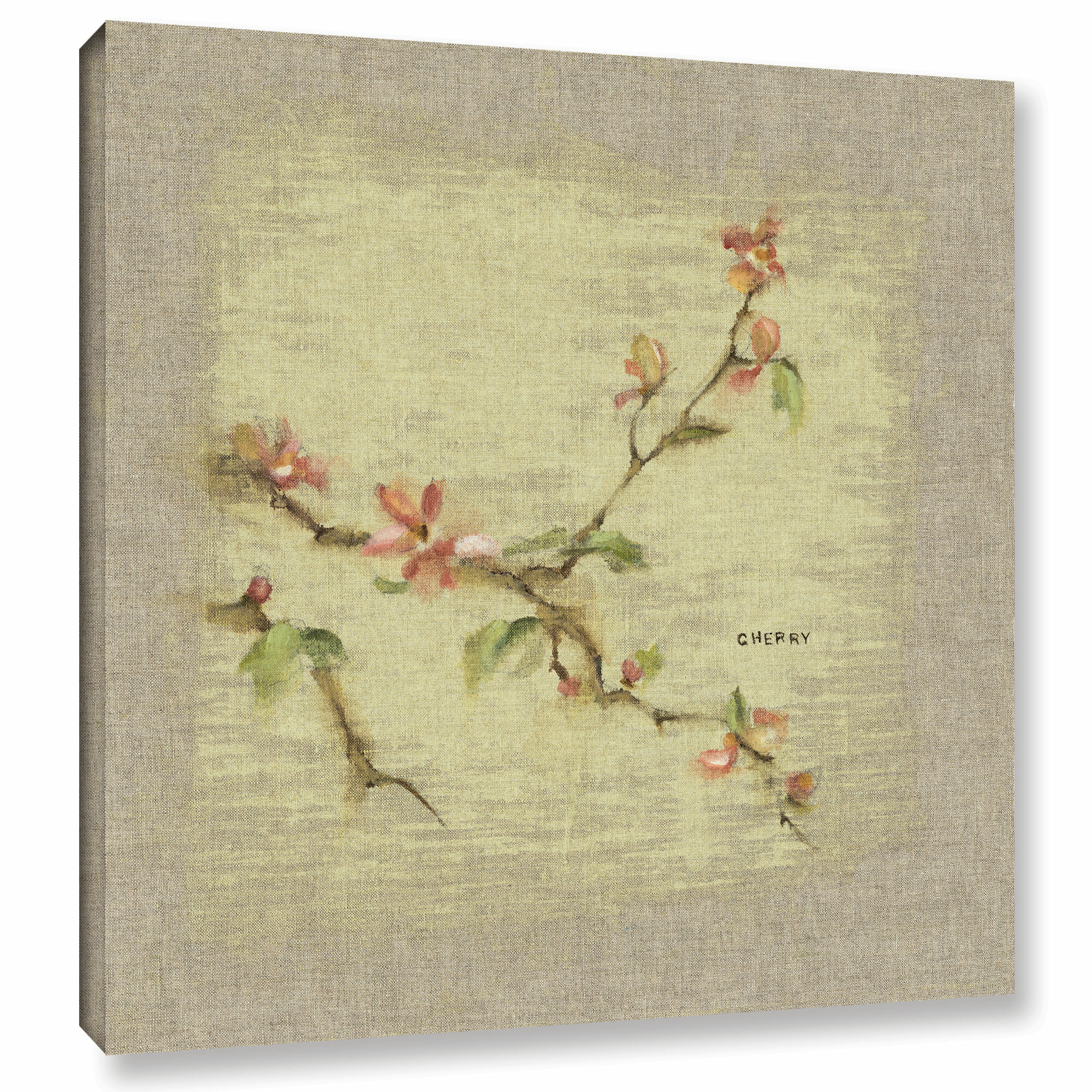 ArtWall \'Cherry Blossom Square\' by Cheri Blum Painting Print on ...