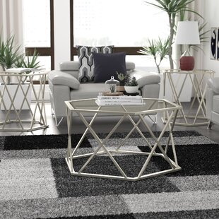 Glass Coffee Table Sets You\'ll Love | Wayfair