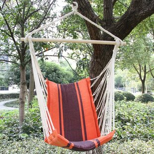 Kevan Cotton Fabric Hanging Chair hammock by Winston Porter