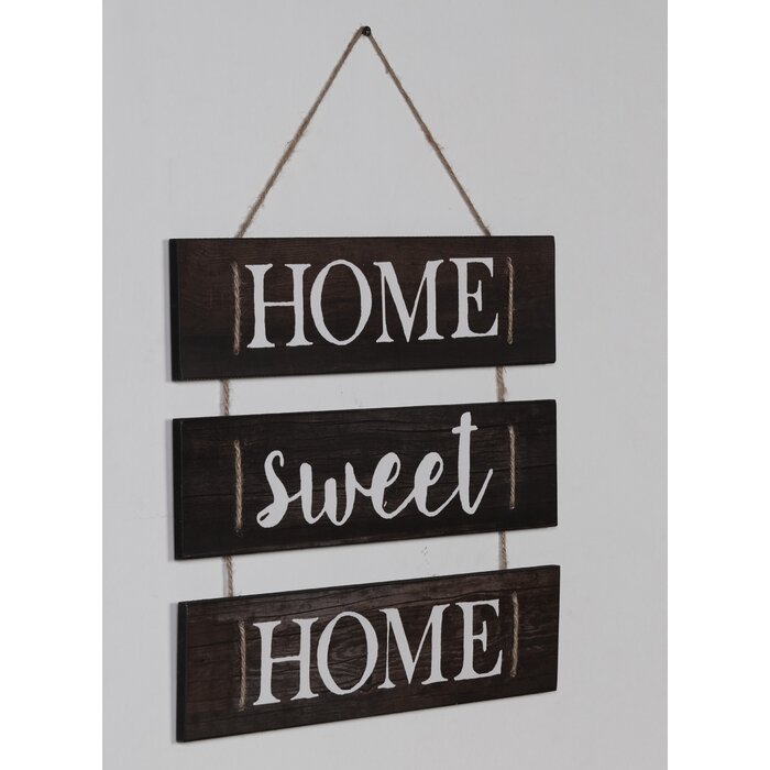 Home Sweet Home Hanging With Rope Wall Decor Reviews Joss Main