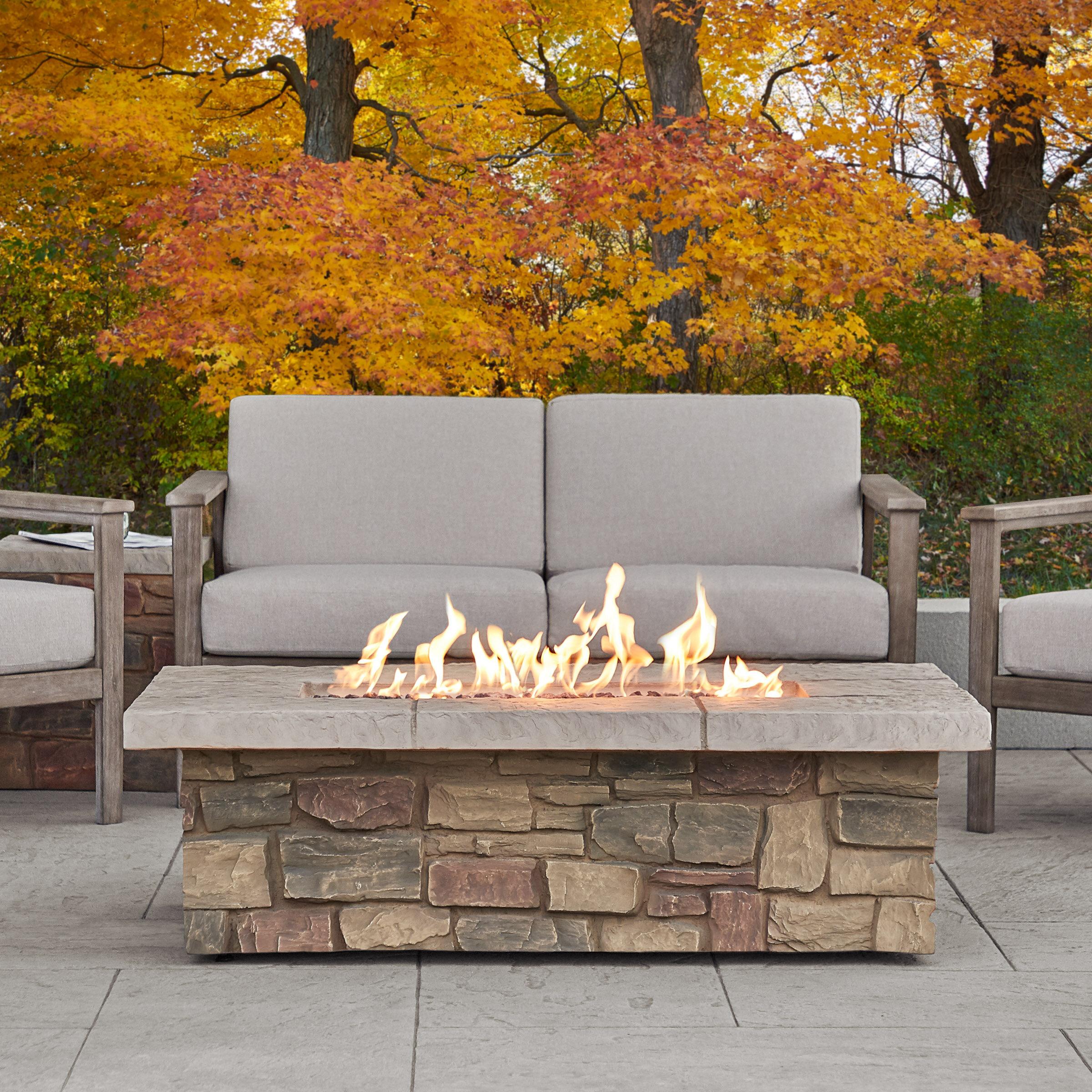 Real Flame Sedona Concrete Propane Gas Fire Pit Table Reviews Wayfair
