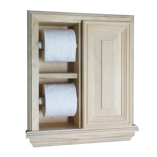 Recessed Deluxe Toilet Paper Holder by WG Wood Products