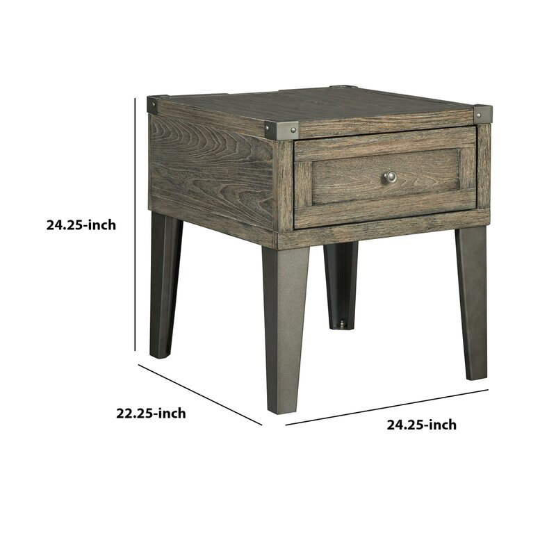 Union Rustic Analia End Table with Storage | Wayfair