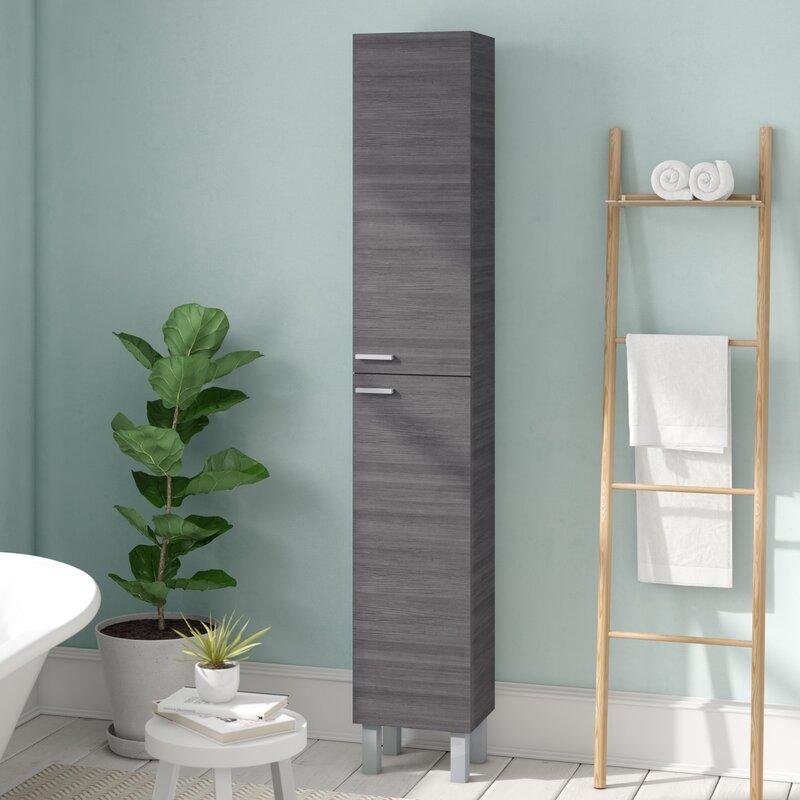 Home Etc 30 x 182cm Free Standing Tall Bathroom Cabinet ...