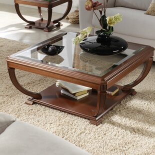 Elin Glass Top Coffee Table