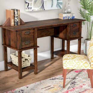 Coyne 2 Drawer Writing Desk by World Menagerie Discount