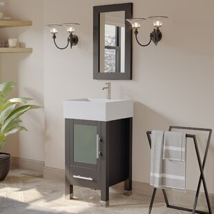 Secrist 18 Single Bathroom Vanity Set with Mirror by Latitude Run