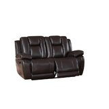 Mickey 66 Wide Leather Match Pillow Top Arm Reclining Loveseat by Red Barrel Studio®