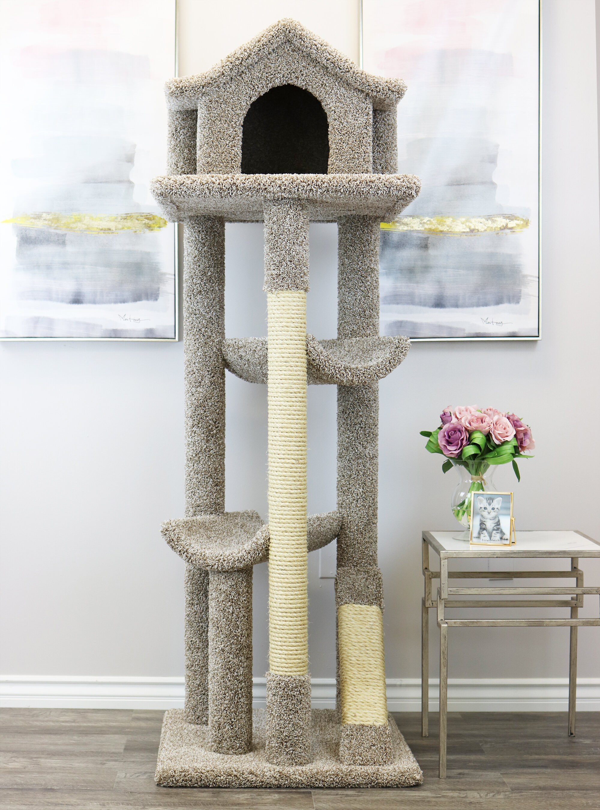 """NEW Cat Tree Tower 66/"""" inch high Condo Furniture Scratching Post"""