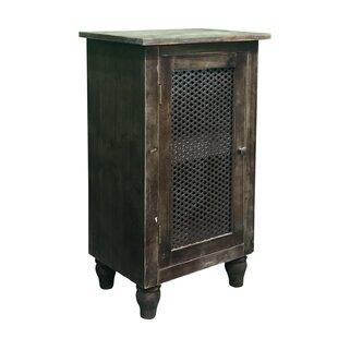 Crane Pine Wood 1 Door End Table by August Grove