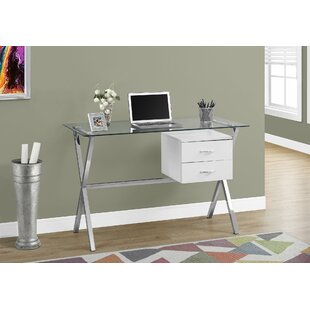 Darcey Glass Writing Desk by Latitude Run Read Reviews