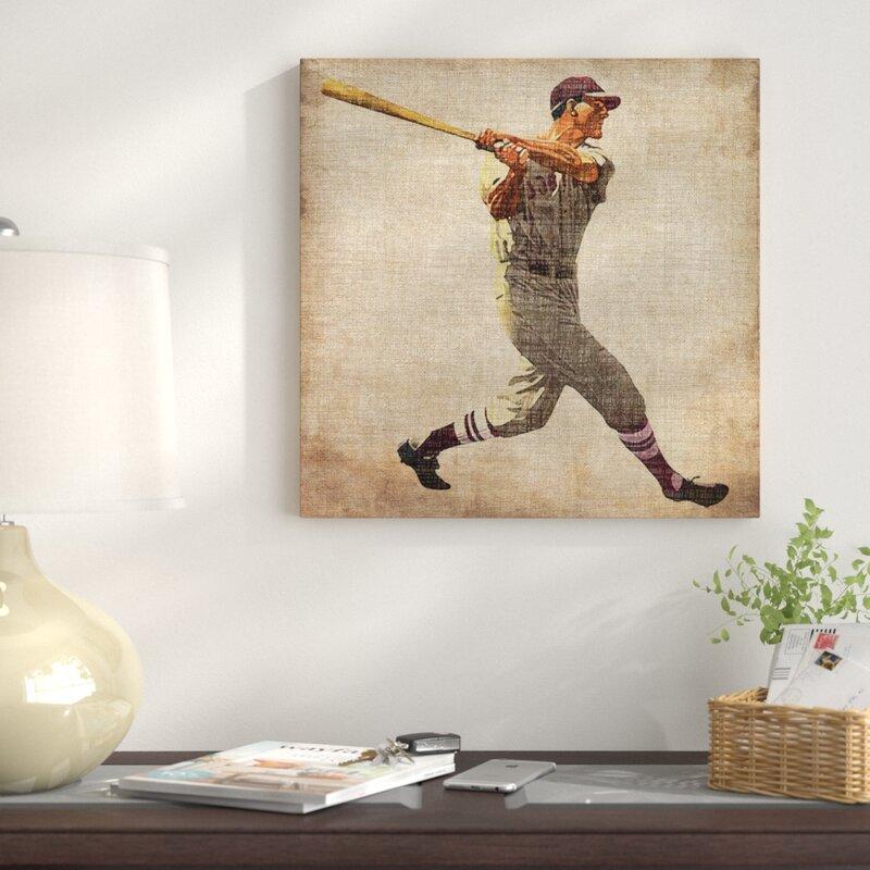 East Urban Home \'Vintage Sports VI\' Graphic Art Print on Canvas ...