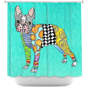Boston Terrier Single Shower Curtain