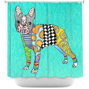 Boston Terrier Single Shower Curtain
