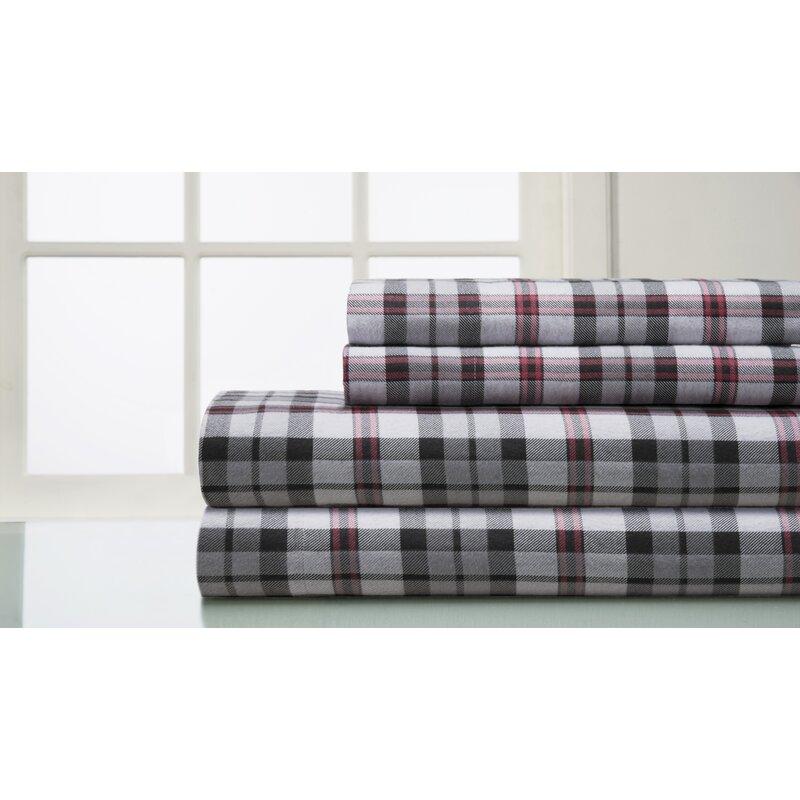 Loon Peak Amity 160 Thread Count 100 Cotton Flannel Sheet Set Reviews Wayfair