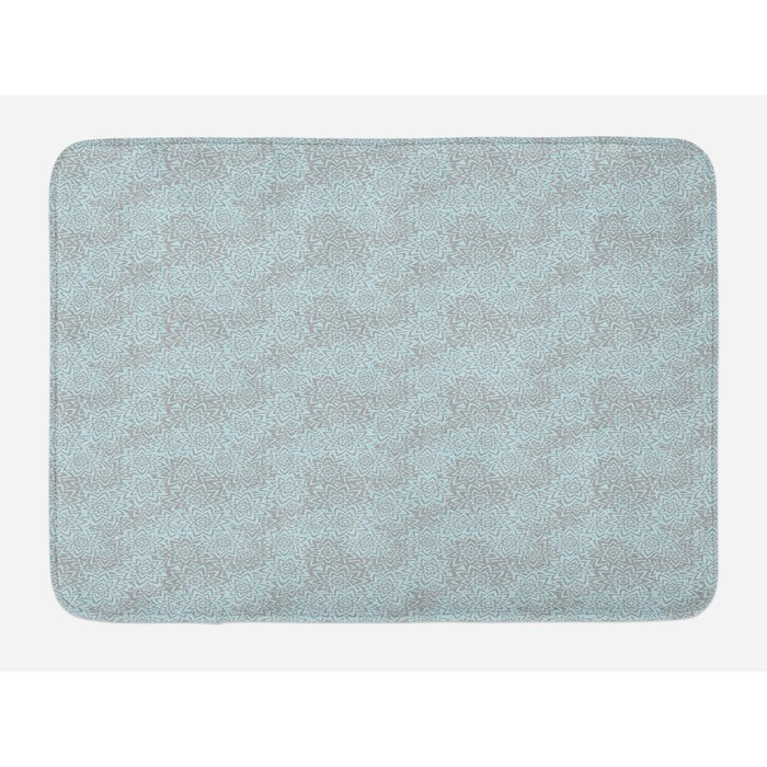 Abstract Summer Blooms Flower Bath Rug