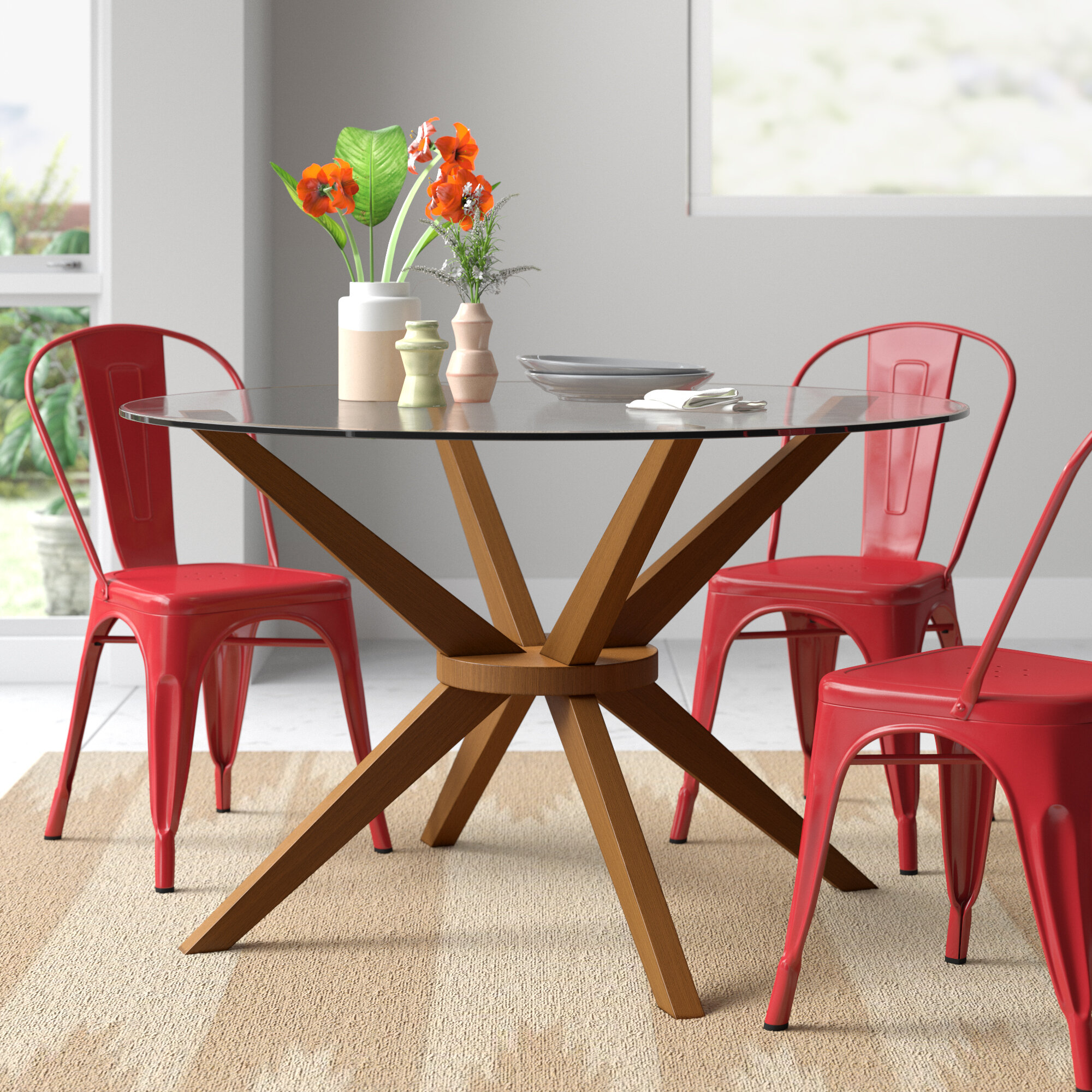 Glass Round Kitchen Dining Tables Free Shipping Over 35 Wayfair