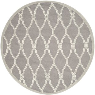 Martins Hand-Tufted Wool Dark Gray/Ivory Area Rug by Wrought Studio