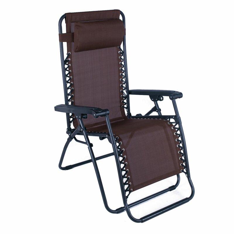 Swint Reclining Folding Zero Gravity Chair With Cushion