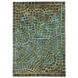 Alline Arch Tile Blue Indoor/Outdoor Area Rug