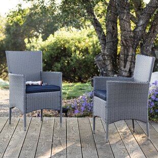 Centauri Patio Dining Chair with Cushion (Set of 2)