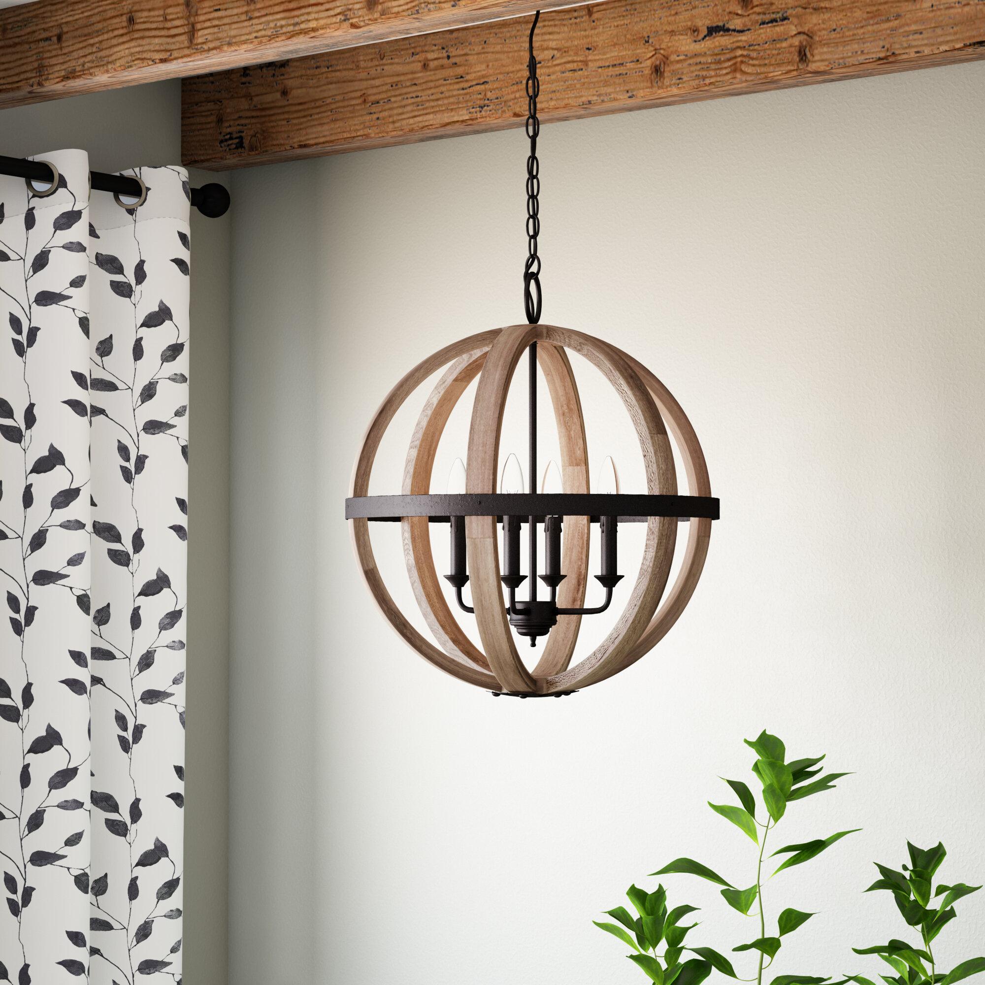 Gracie oaks caley 4 light globe chandelier reviews wayfair
