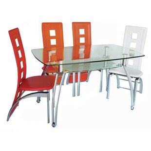 Penner Glass Dining Table Ebern Designs