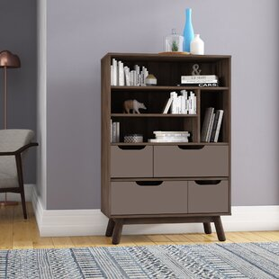 Hilson Bookcase by Wrought Studio Spacial Price