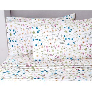 Chapa Wildflower 400 Thread Count 100% Cotton Sheet Set by August Grove Amazing