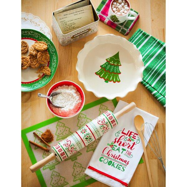 The Holiday Aisle Kadyn Ceramic Round Christmas Baking Dish Wayfair