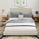 Laurian Queen Tufted Upholstered Low Profile Standard Bed by Red Barrel Studio®