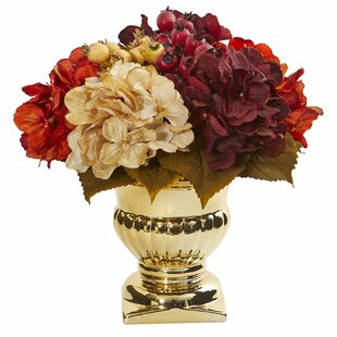 Artificial Hydrangea Floral Arrangements and Centerpieces in Urn