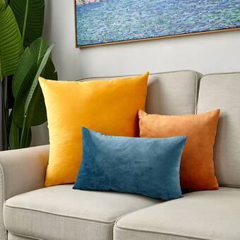 Hashtag Home Captain Rectangular Velvet Lumbar Pillow Cover Insert Reviews Wayfair