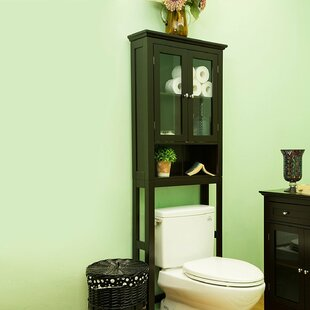 Bargain Wooden Storage 24 W x 68.26 H Over the Toilet Storage By Glitzhome