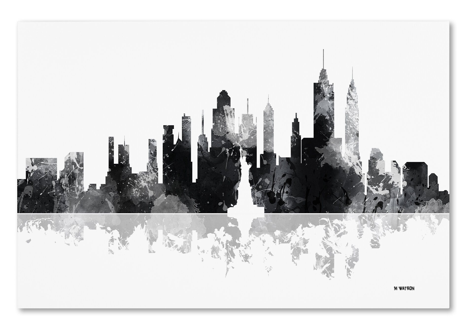 Trademark Art New York New York Skyline Bg 1 Graphic Art Print On Wrapped Canvas Wayfair