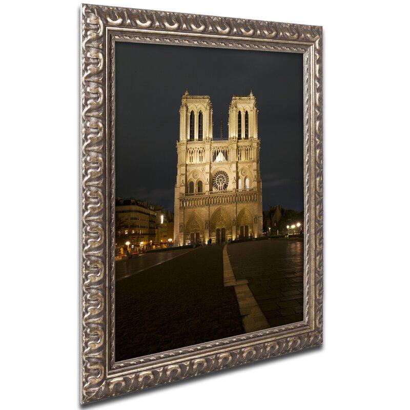 Trademark Art Notre Dame De Paris By Michael Blanchette Picture Frame Photograph Print On Canvas Wayfair