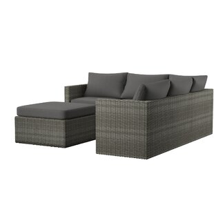 Lorentzen Patio Sectional With Cushions by Mercury Row 2019 Sale