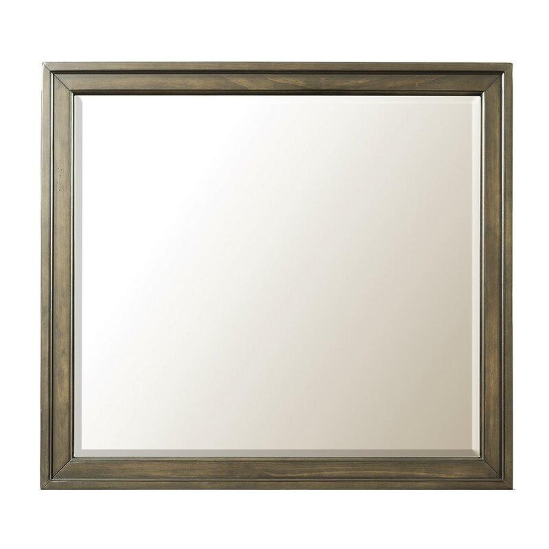Beau Hednesford Storage Beveled Dresser Mirror