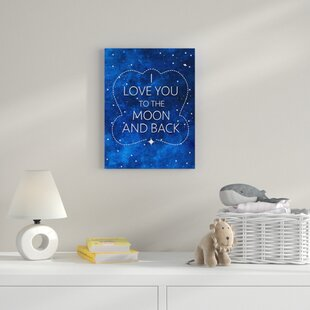 I Love You To The Moon And Back Ii Canvas Art