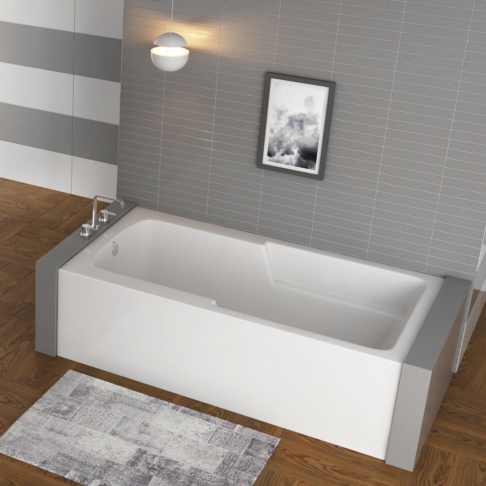 Americh Matty Ada Left Hand 60 X 32 Alcove Soaking Bathtub