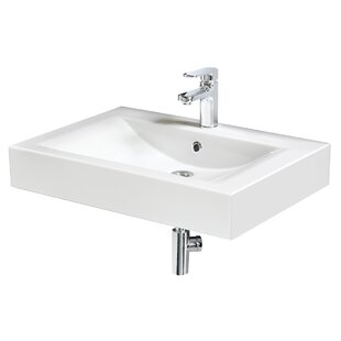 Find Bravado™ Stone Rectangular Vessel Bathroom Sink with Overflow By Aquatica